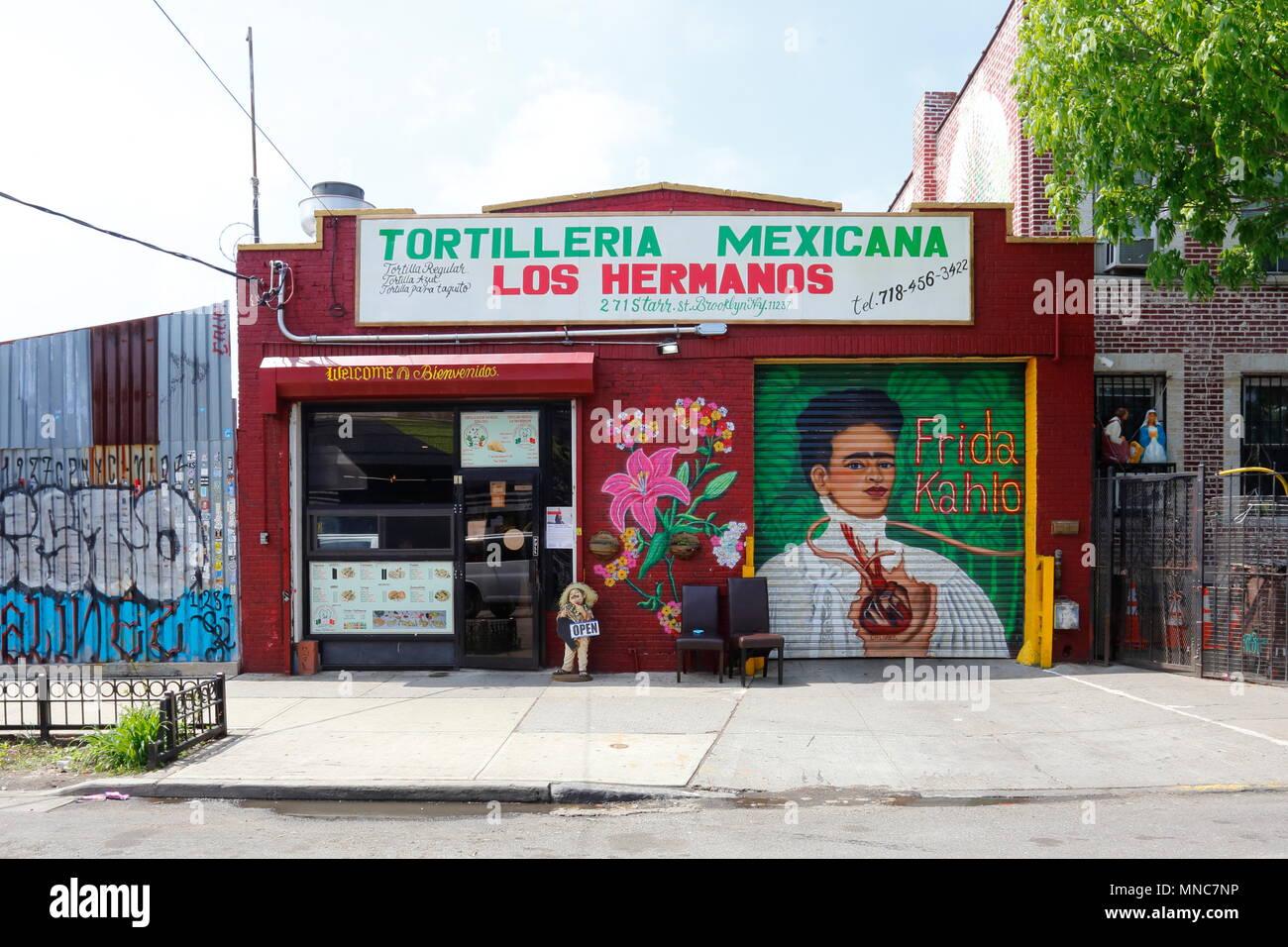 Los Hermanos, 271 Starr St, Brooklyn, NY - Stock Image