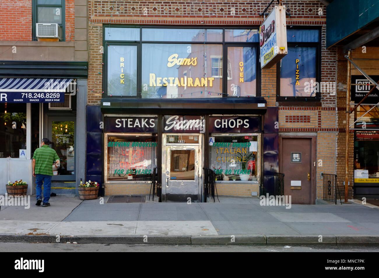 Sam's, 238 Court St, Brooklyn, NY - Stock Image