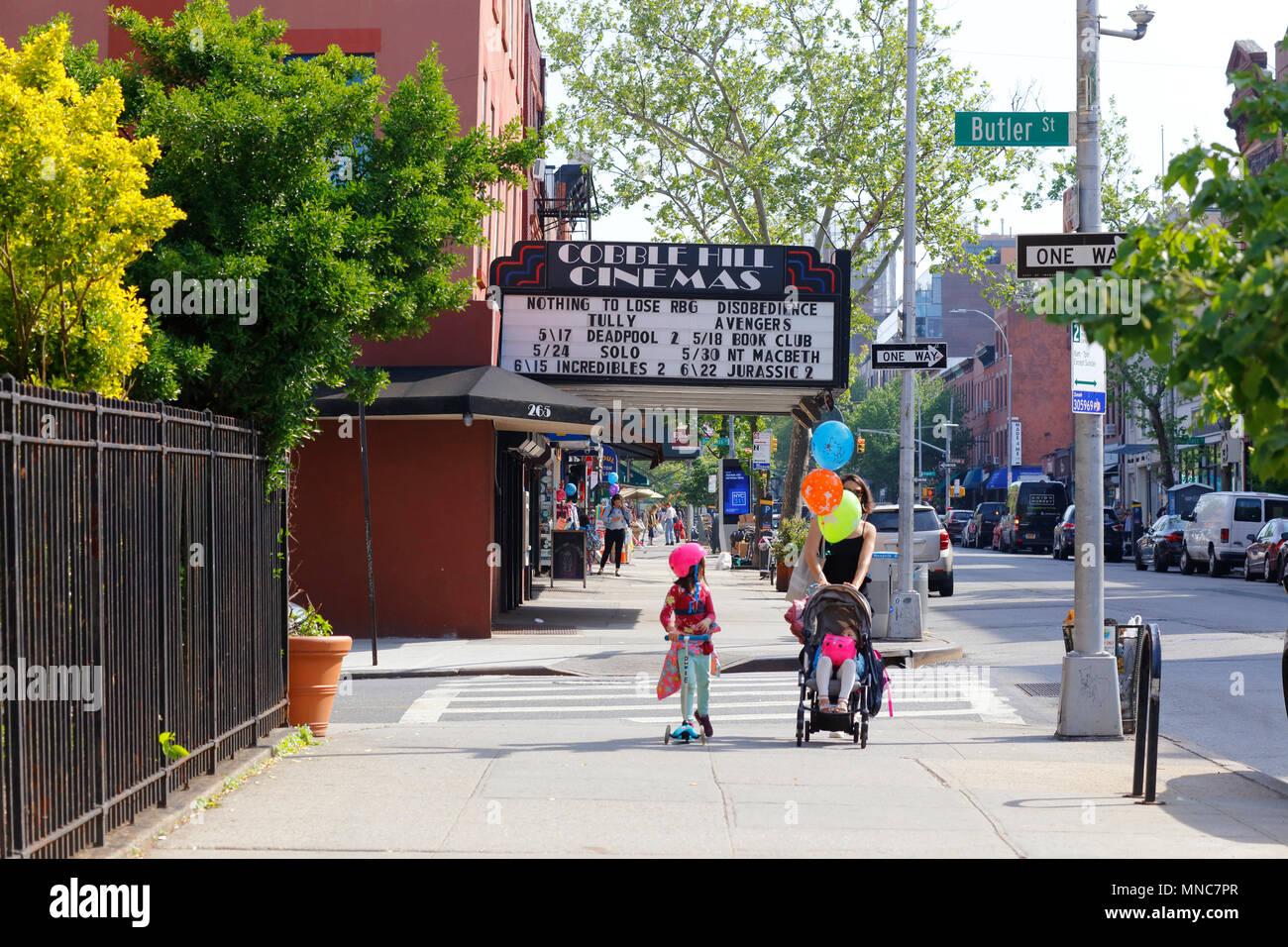 Outside Cobble Hill Cinemas - Stock Image