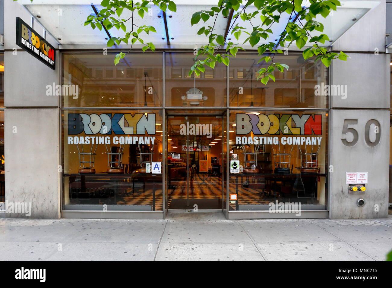 Brooklyn Roasting Company, 50 W 23rd St, New York, NY. - Stock Image