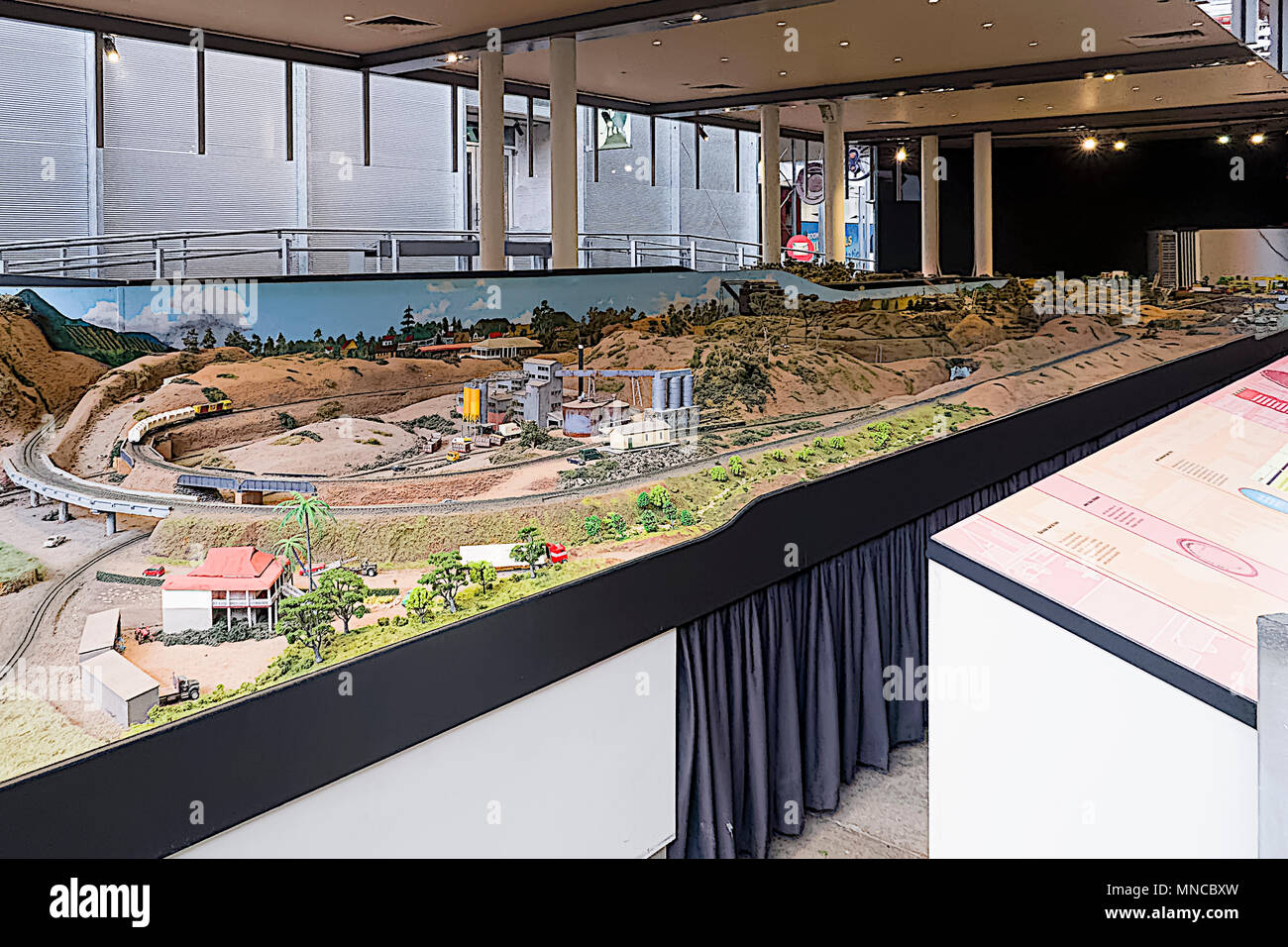 Made as authentis as possible this huge model railway layout is maintained by vounteers - Stock Image