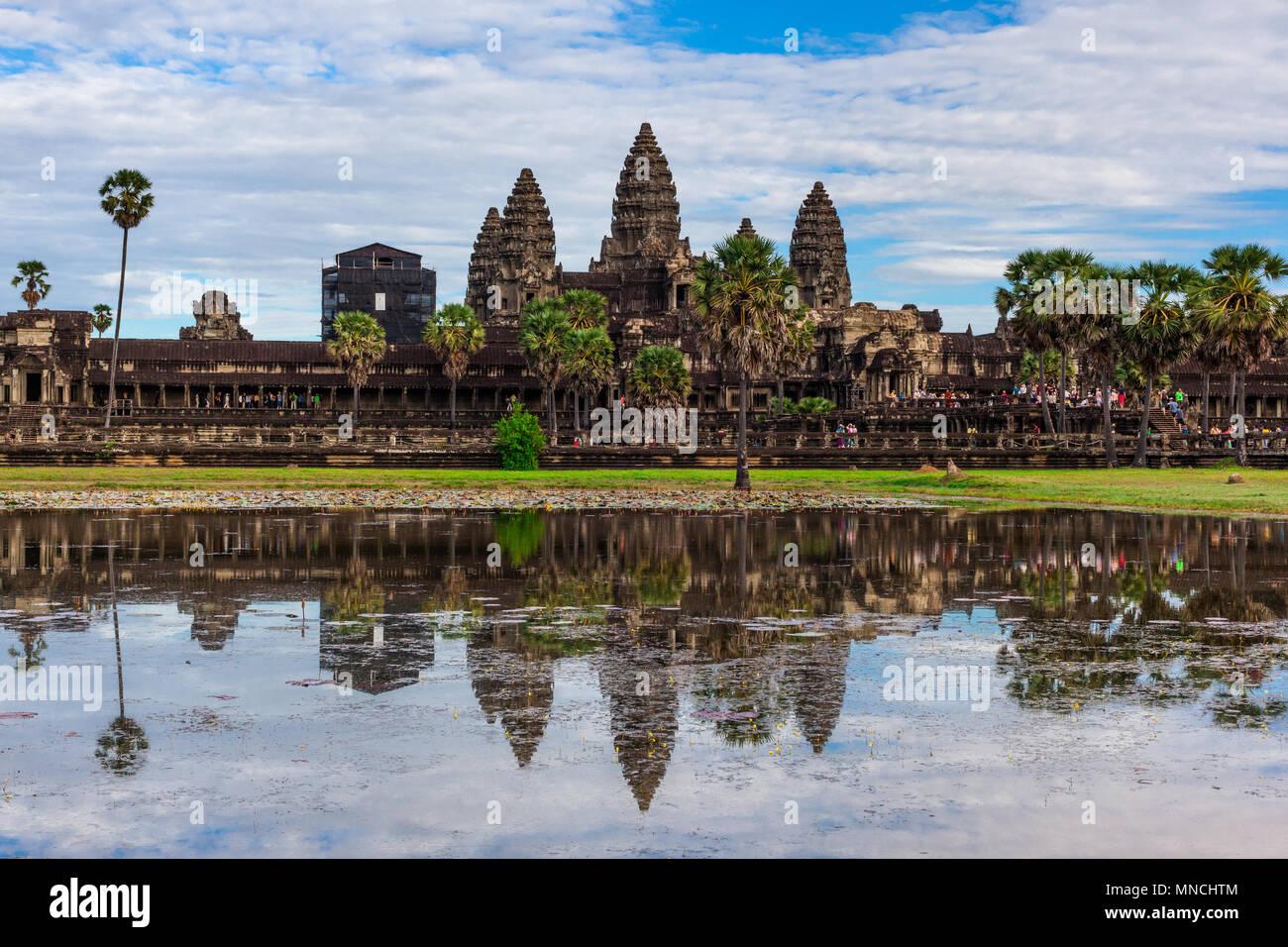 Temple of Angkor Wat, Cambodia - Stock Image