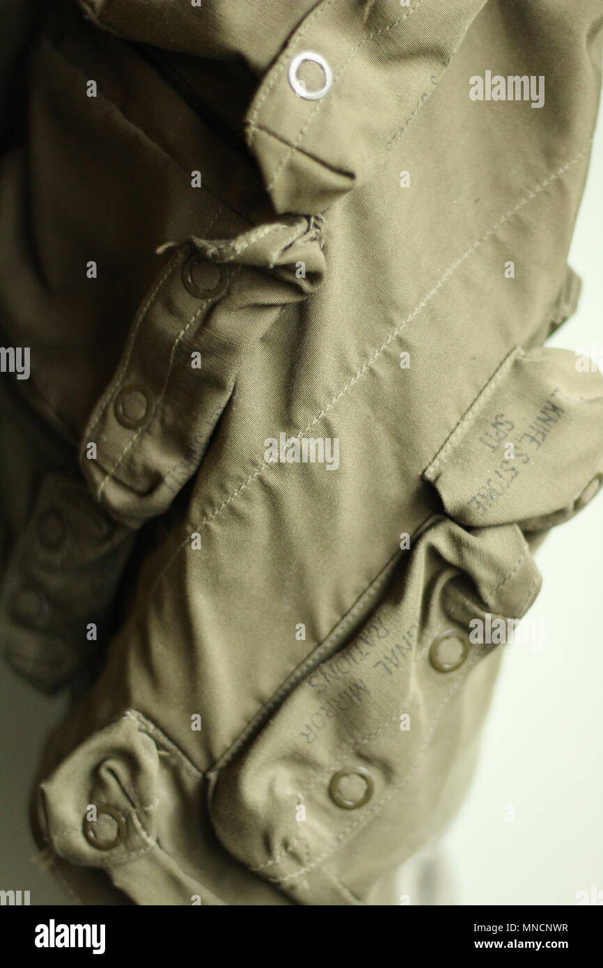 Images of WW2 - Textiles - Military Clothing. Side shot of B17 aircrew flak jacket. - Stock Image