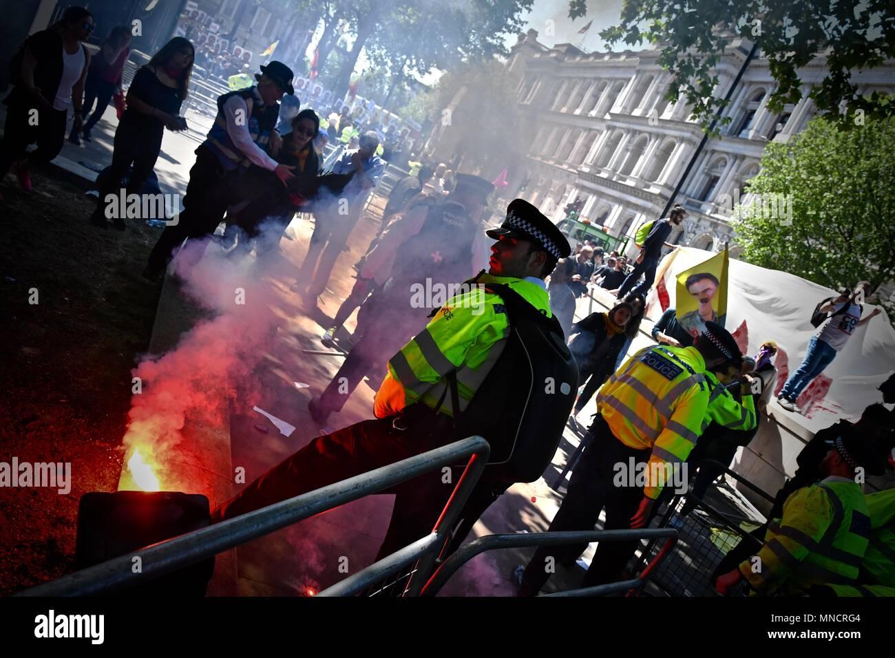 Erdogan Protests - Stock Image