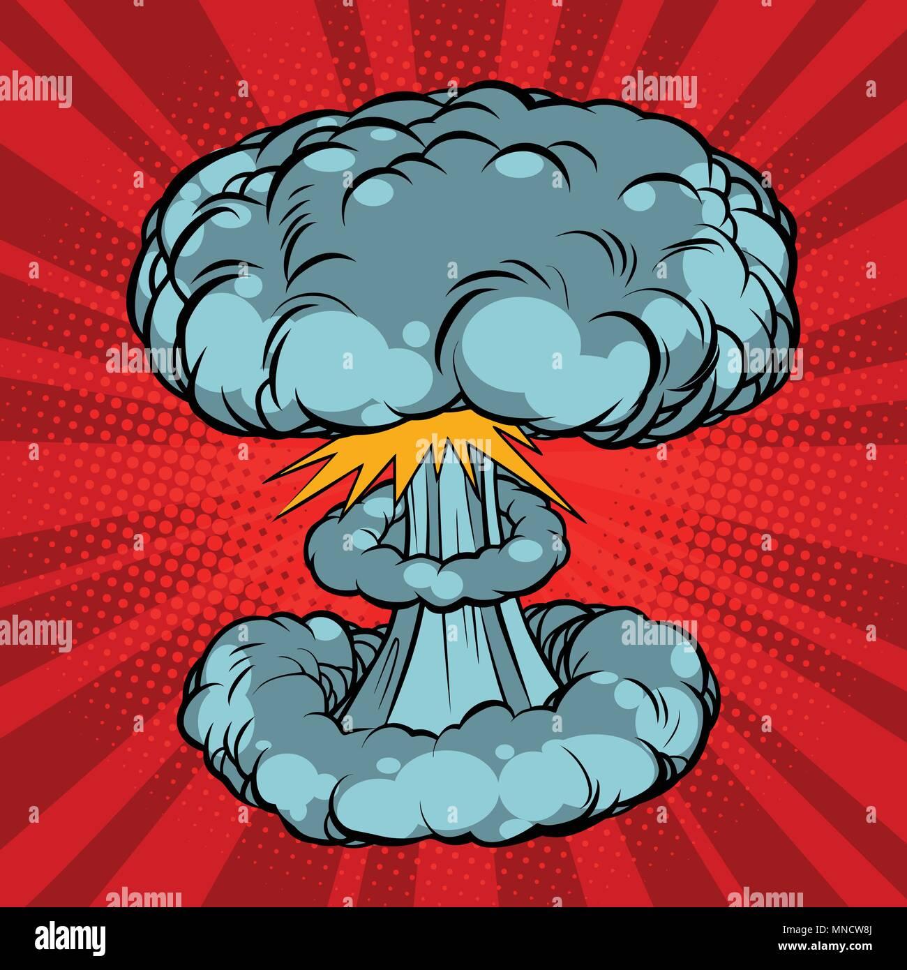 Nuclear explosion, war - Stock Vector
