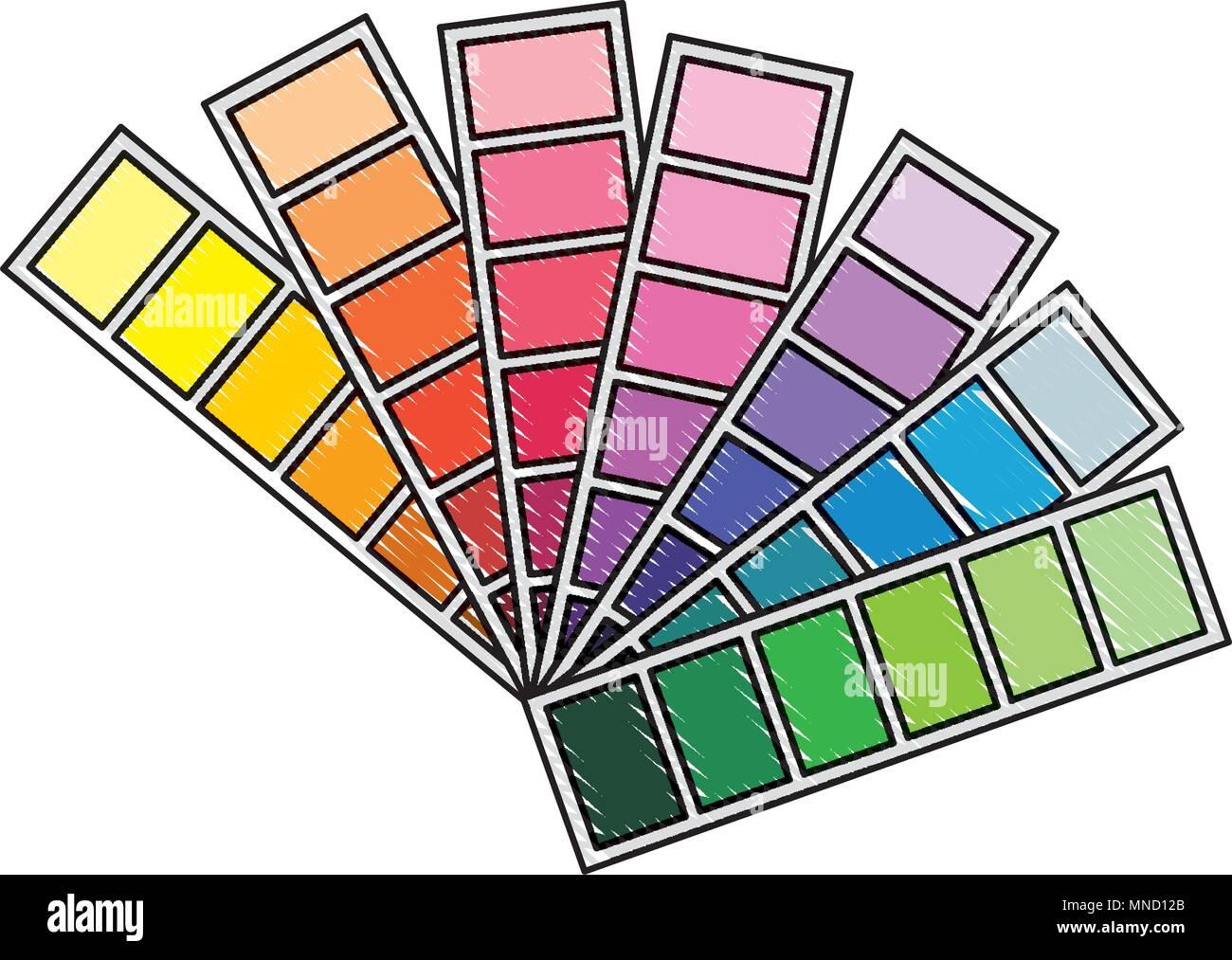menu color palette graphic design - Stock Image
