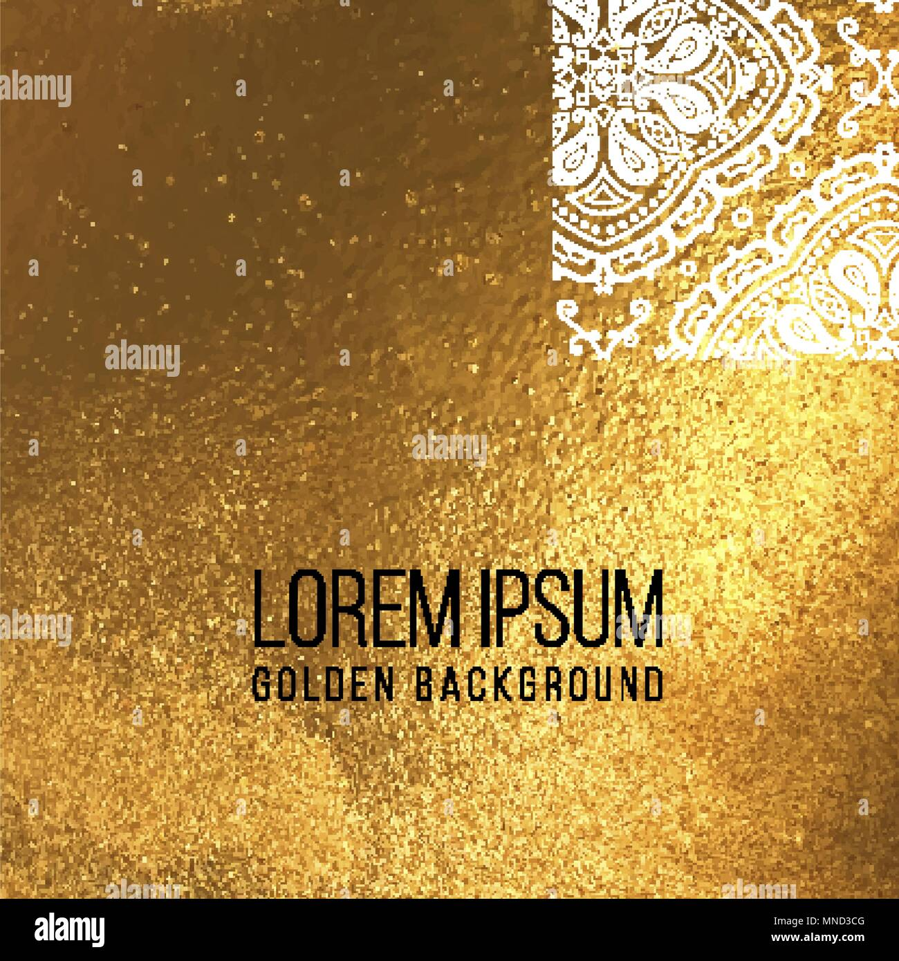 vector golden foil background template for cards hand drawn