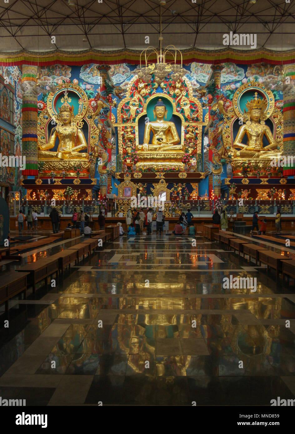 Namdroling Monastery - at Kushalnagar (Bylakuppe) - Coorg, India Stock Photo