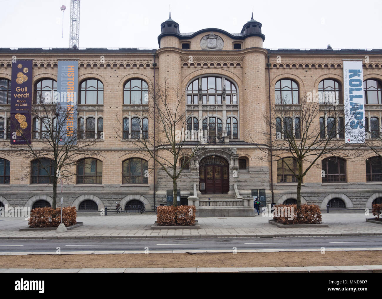 The Historical Museum in the centre of Oslo Norway is pat of the University and houses permanent and temporary exhibitions - Stock Image