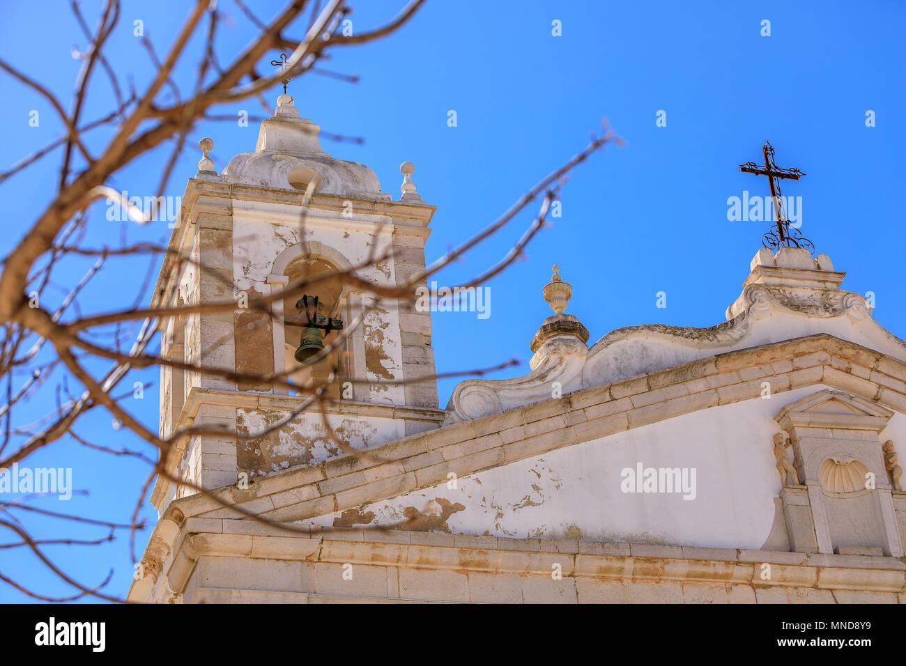 Church in Lagos, Algarve, Portugal - Stock Image