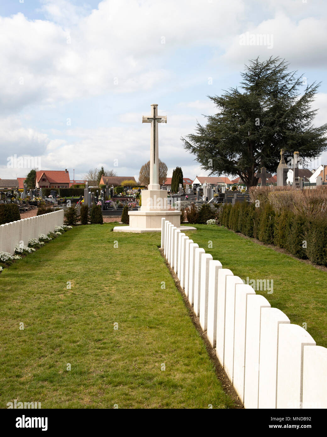 Iwuy Communal Cemetery of the Great War - Stock Image