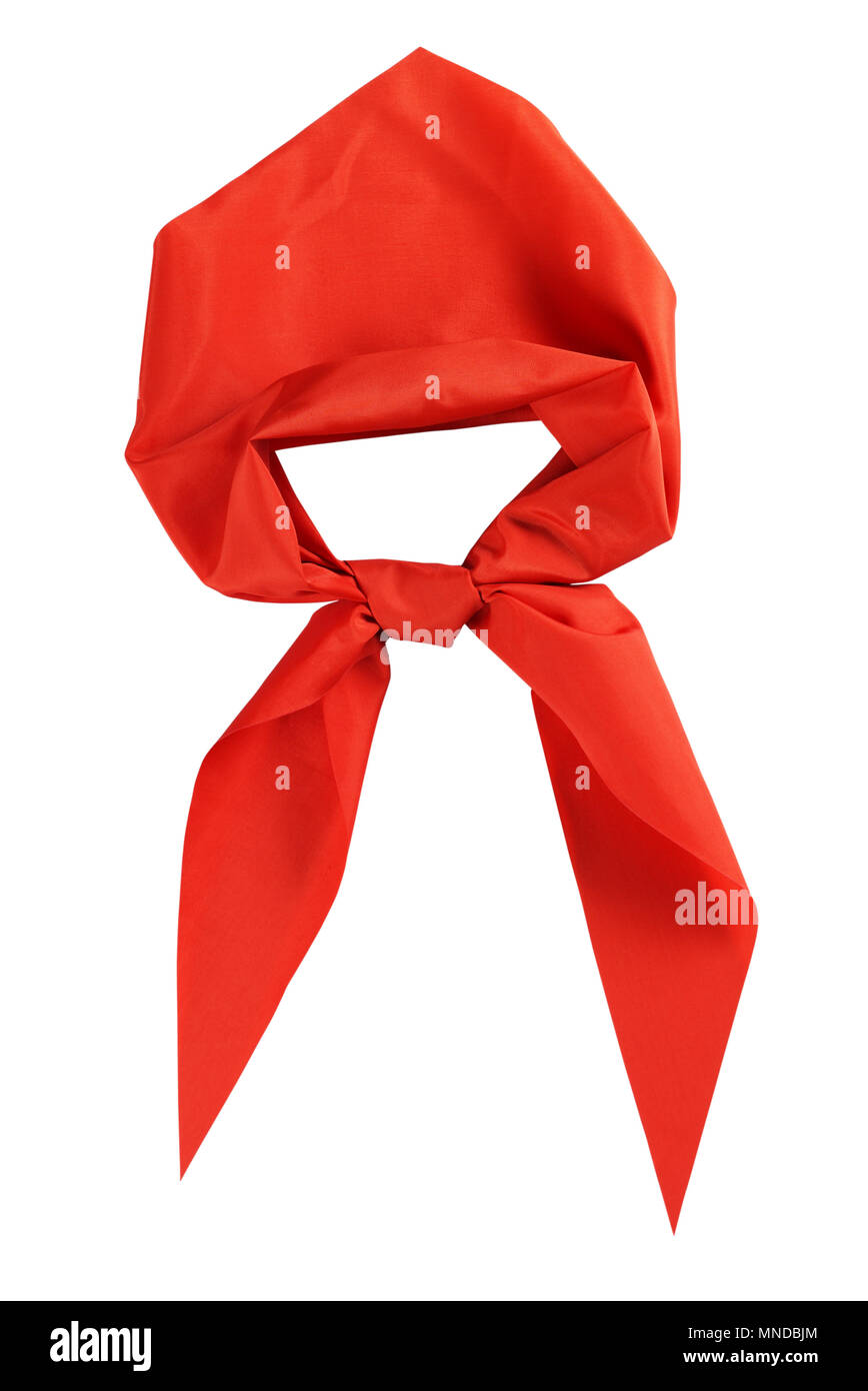 Scout tie isolated on white background. - Stock Image