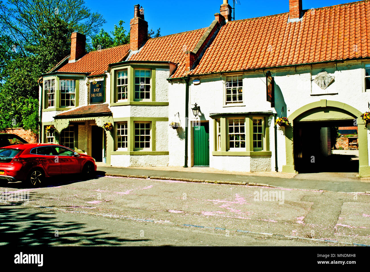 The Bay Horse, Hurworth on the Tees, borough of Darlington, County Durham - Stock Image