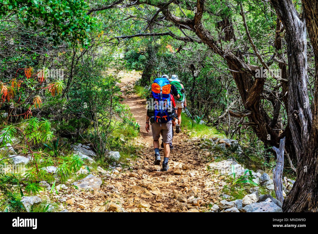 Italy Sardinia 'Selvaggio Blu' itinerary Trekking - Stock Image