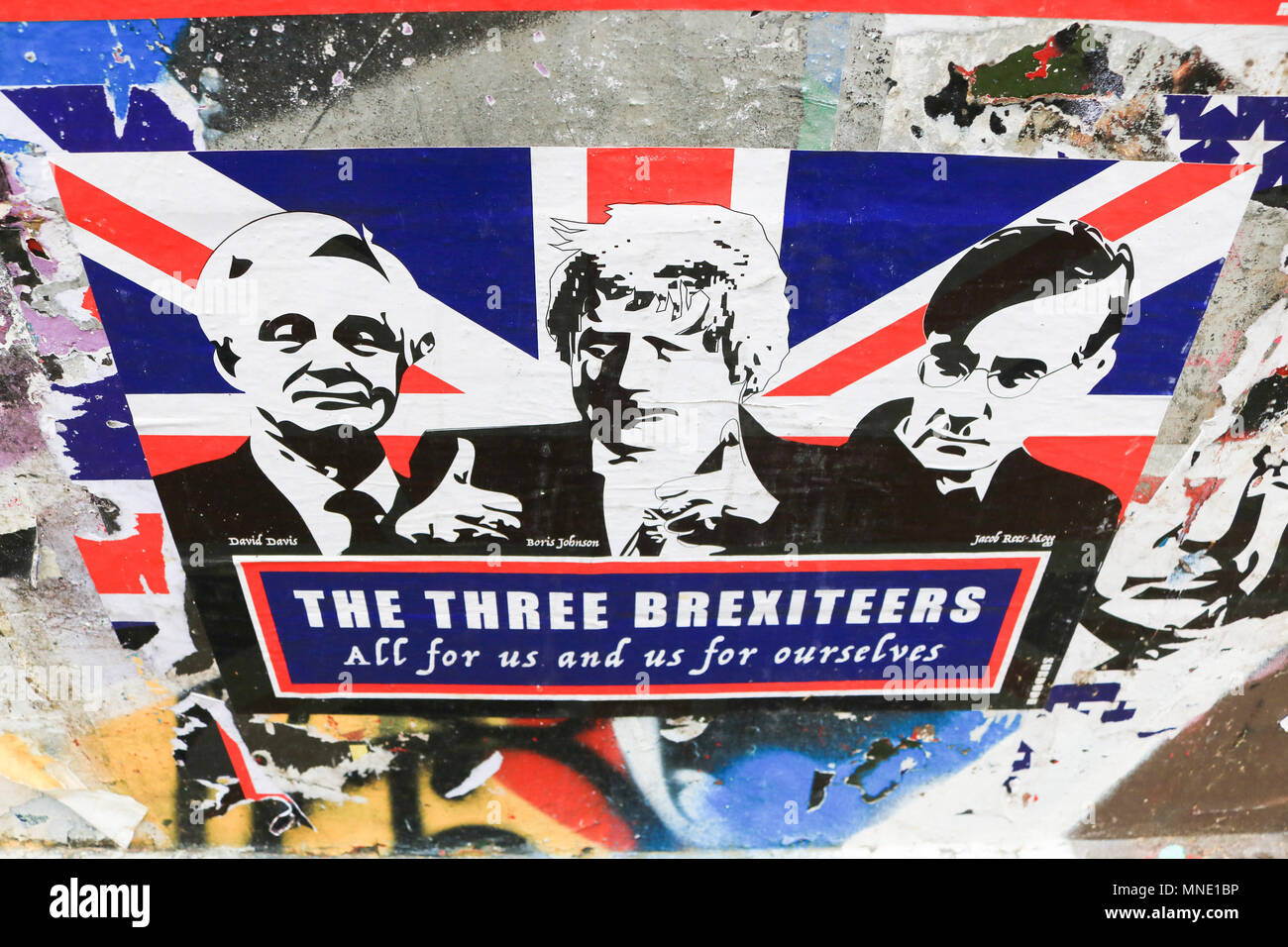 London Uk 16th May 2018 A Satirical Poster In Brick Lane East