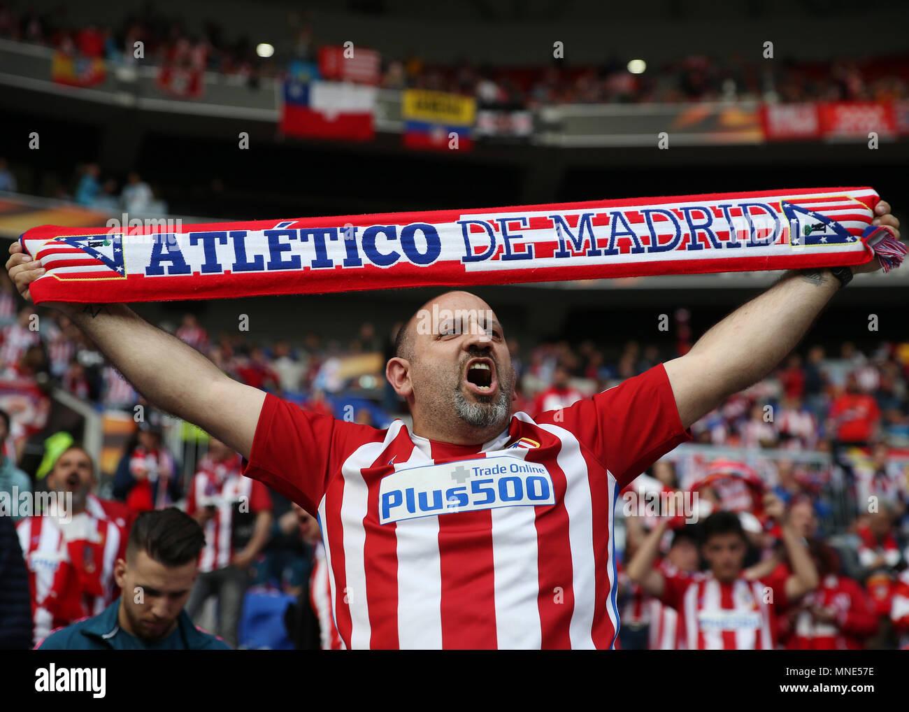 Atletico Madrid La Liga Football Crest Fans Scarf