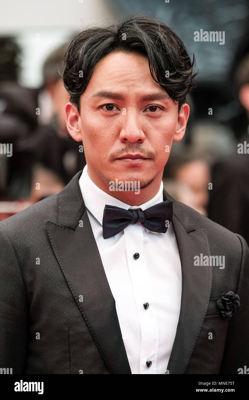 Cannes, France. 16th May, 2018. Chang Chen on the 'BURNING' Red Carpet on Wednesday 16 May 2018 as part of the 71st International Cannes Film Festival held at Palais des Festivals, Cannes. Pictured: Chang Chen. Picture by Julie Edwards. Credit: Julie Edwards/Alamy Live News - Stock Image