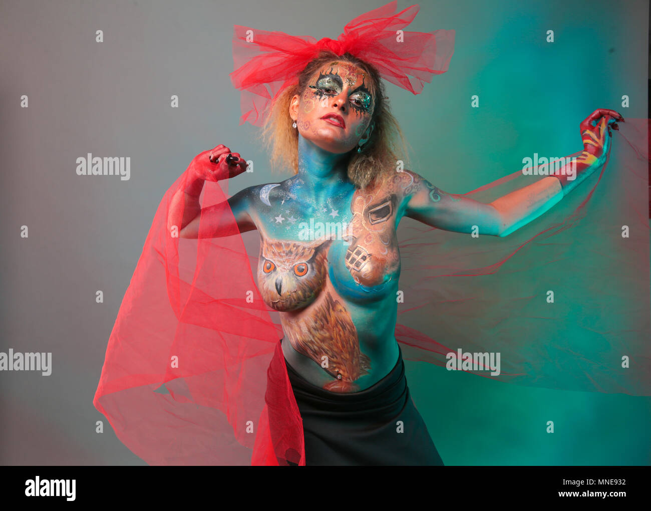 Body Painting Festival High Resolution Stock Photography And Images Alamy