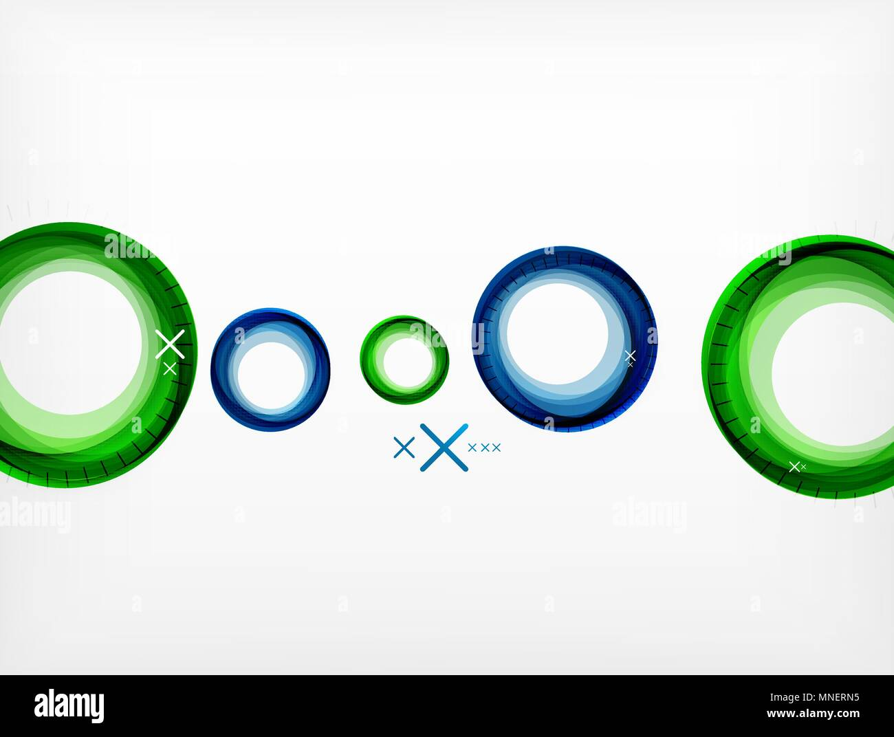 flying abstract circles vector geometric background color air