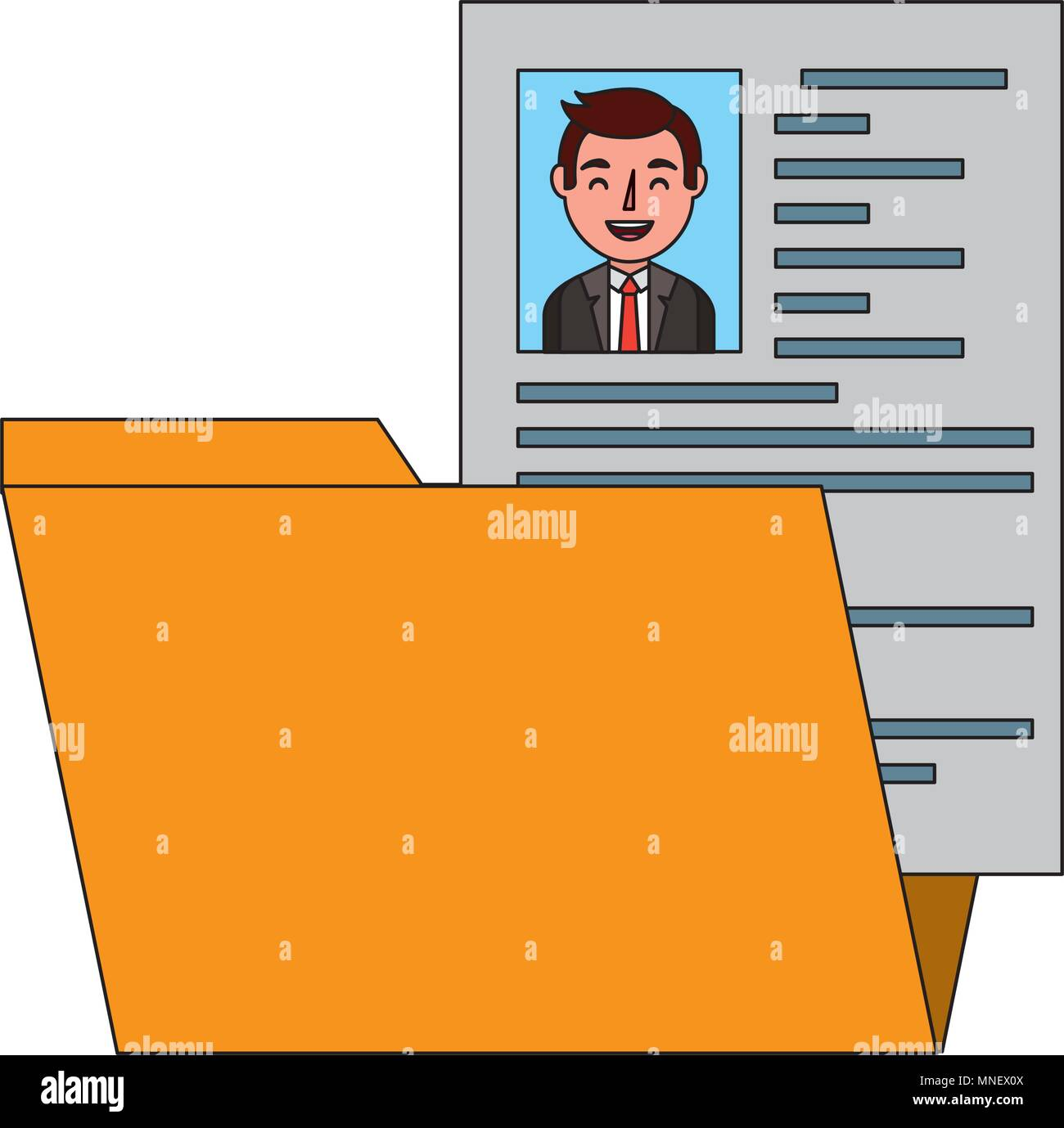 folder resume curriculum male worker stock vector art illustration