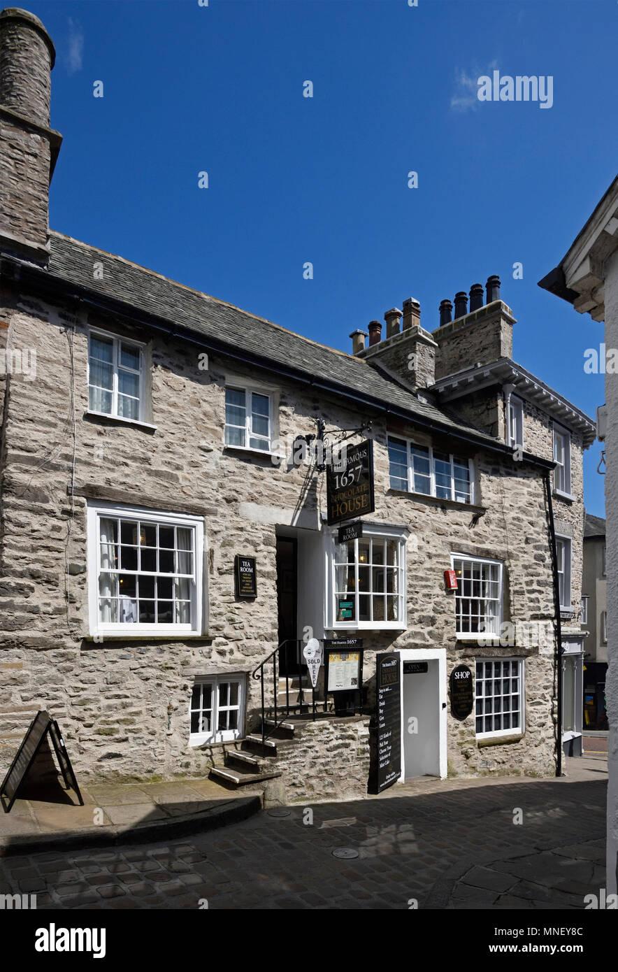 The Famous 1657 Chocolate House, Branthwaite Brow, Kendal, Cumbria, England, United Kingdom, Europe. - Stock Image