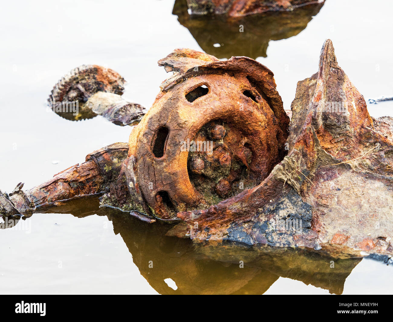 old car parts - Stock Image