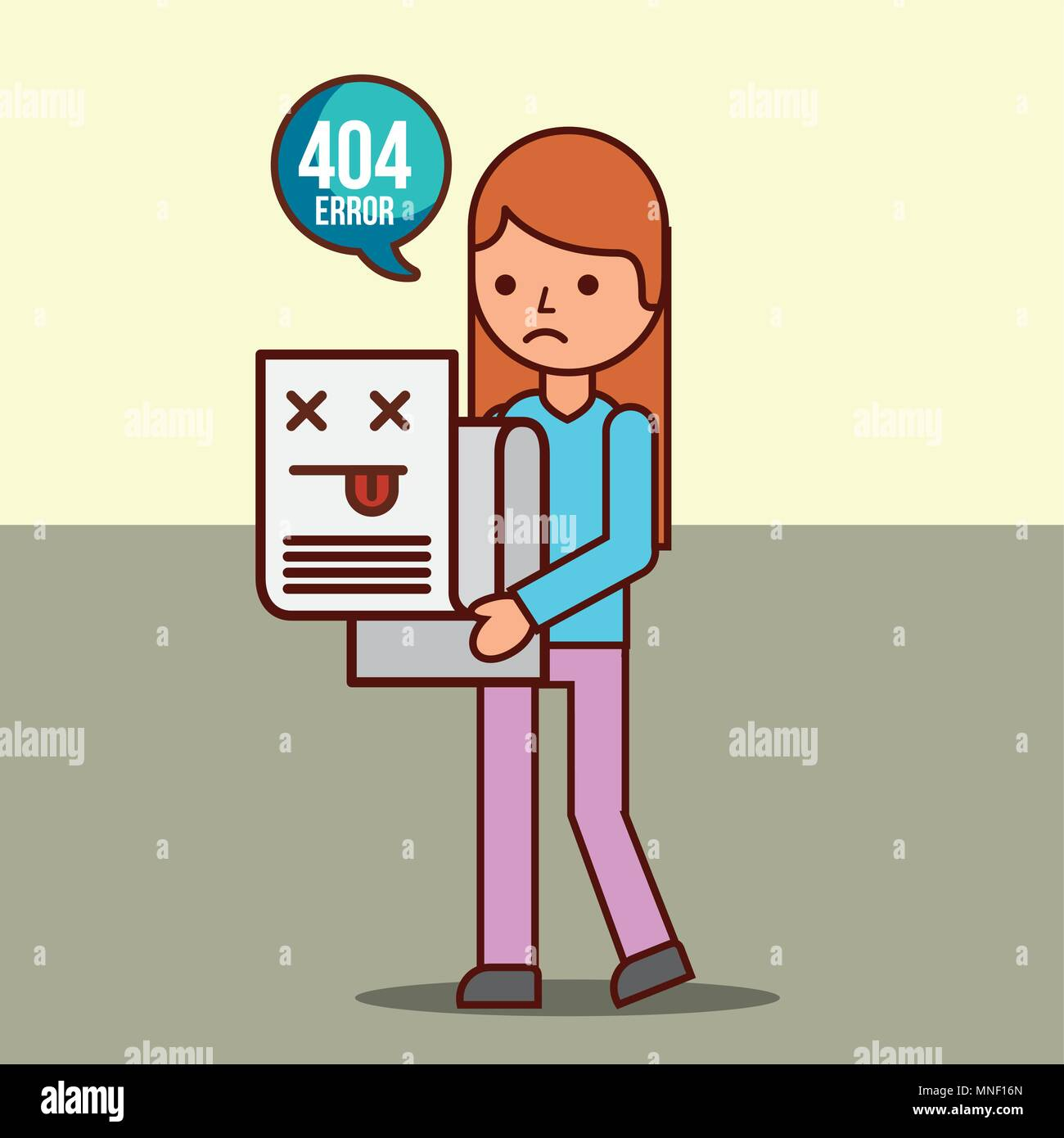 404 error page not found - Stock Vector