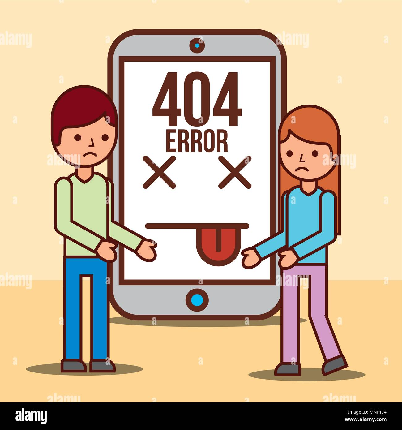 404 error page not found - Stock Image