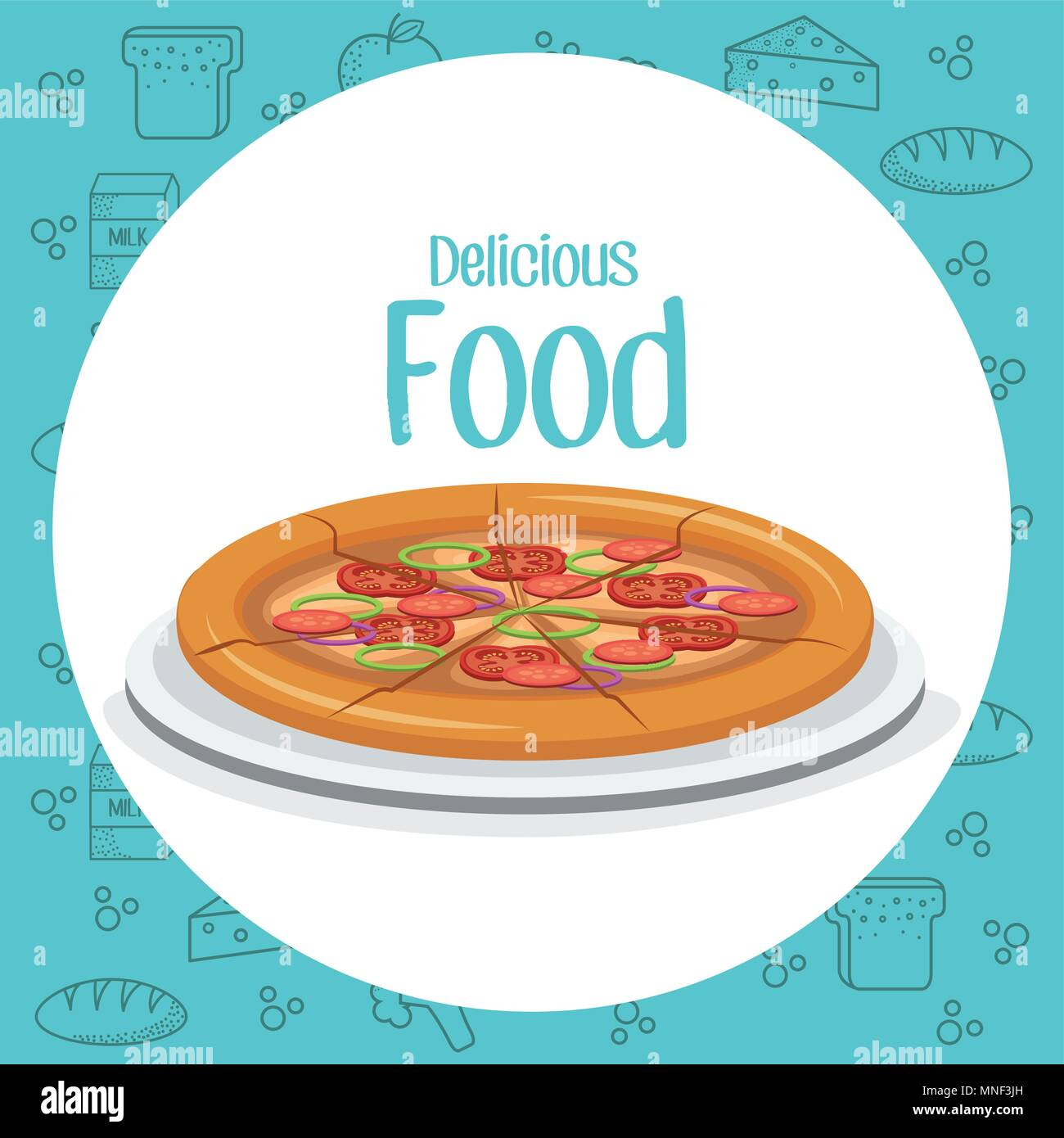 pizza fast food menu - Stock Vector