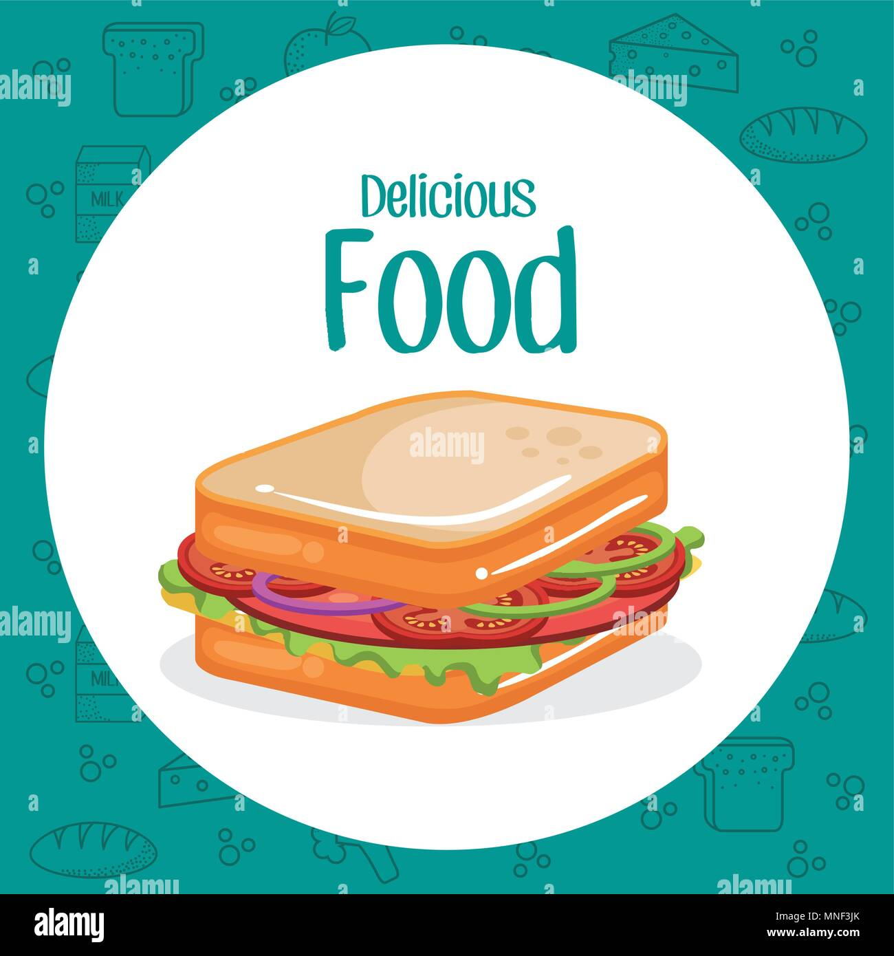 sandwich fast food menu - Stock Vector