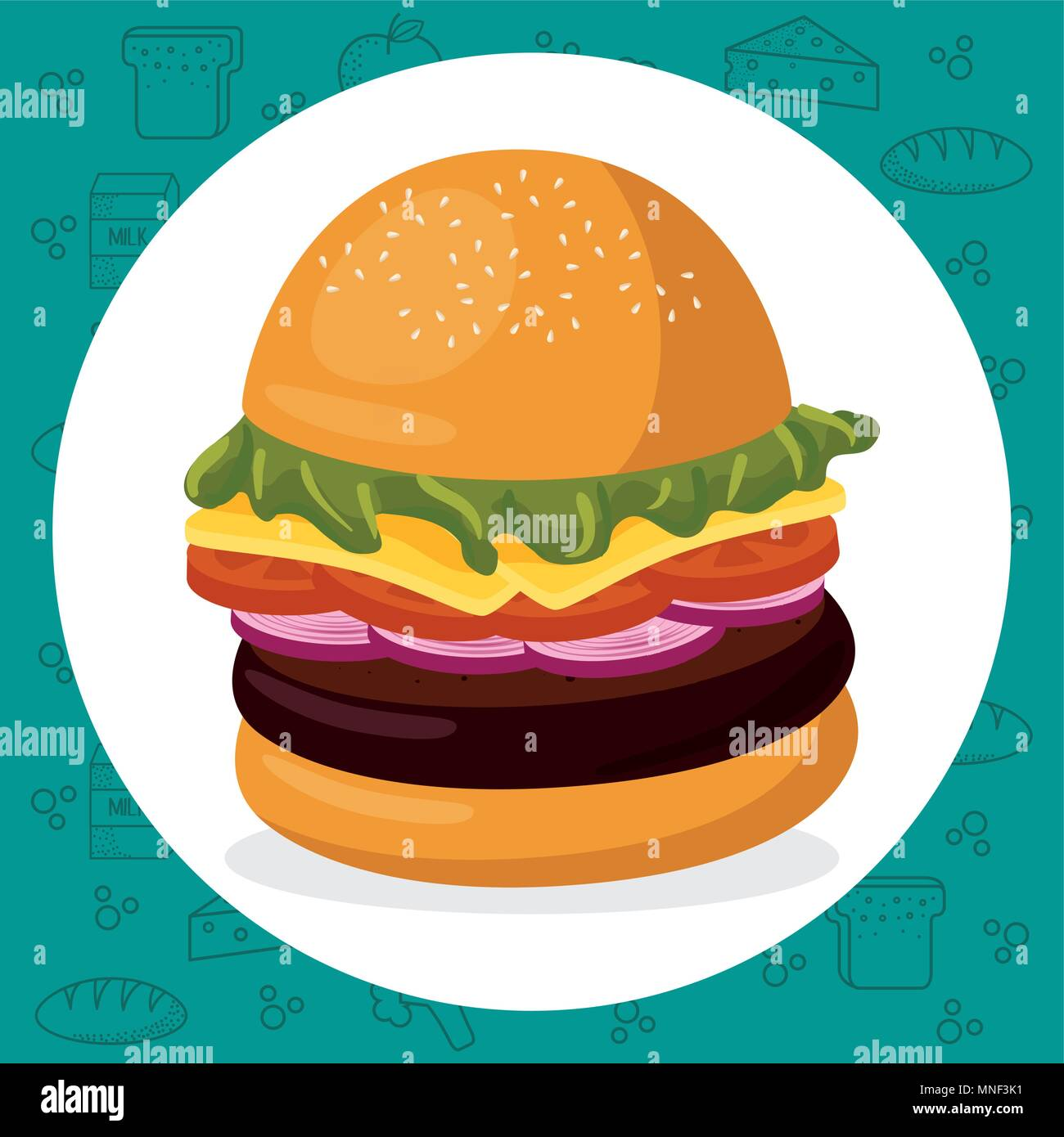 hamburger fast food menu - Stock Vector