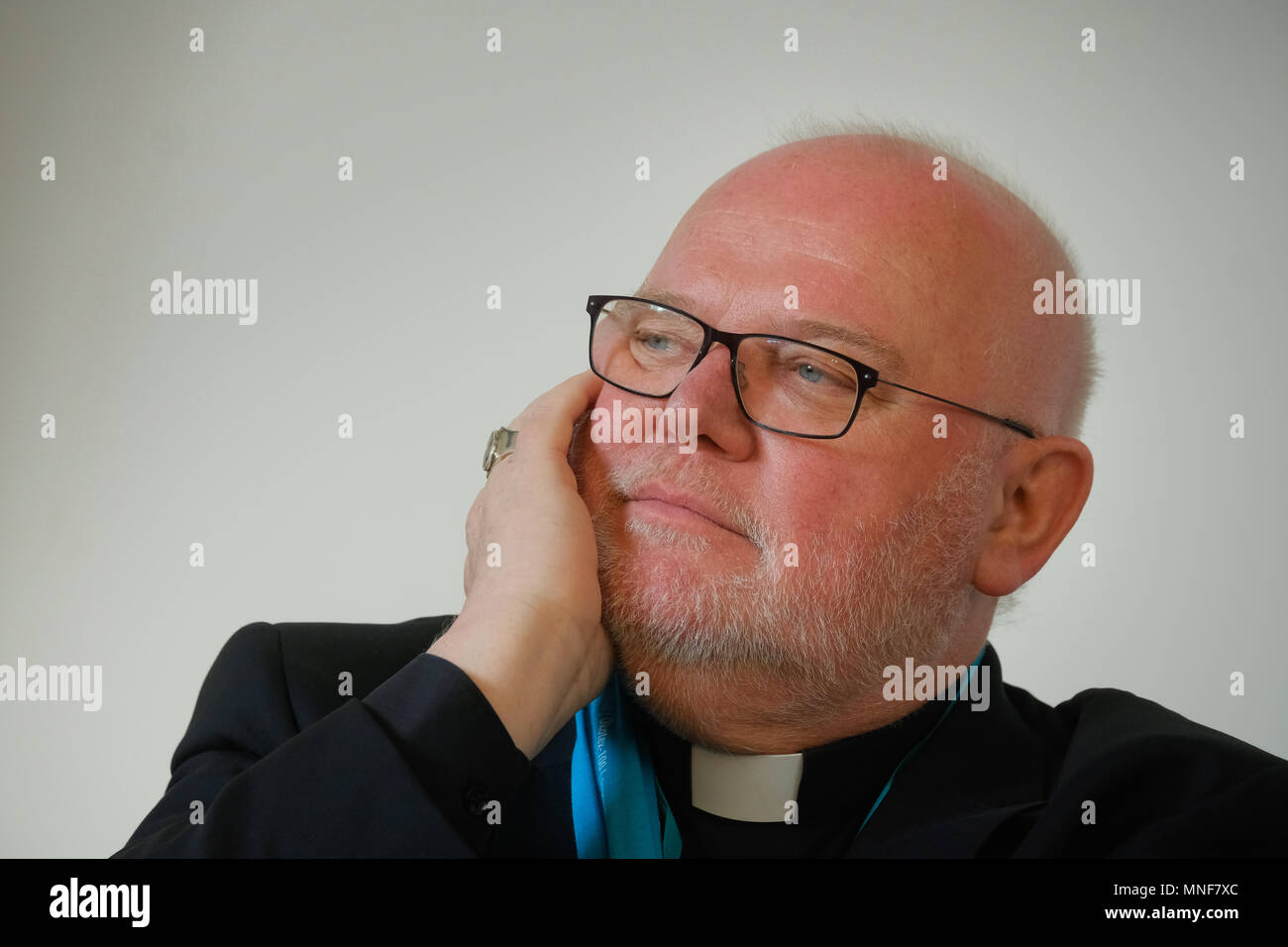 Roman catholic Cardinal REINHARD MARX, chairman of the Catholic German Bishops' Conference, during the 101st Katholikentag on May 13th 2018 in Münster, Germany Stock Photo