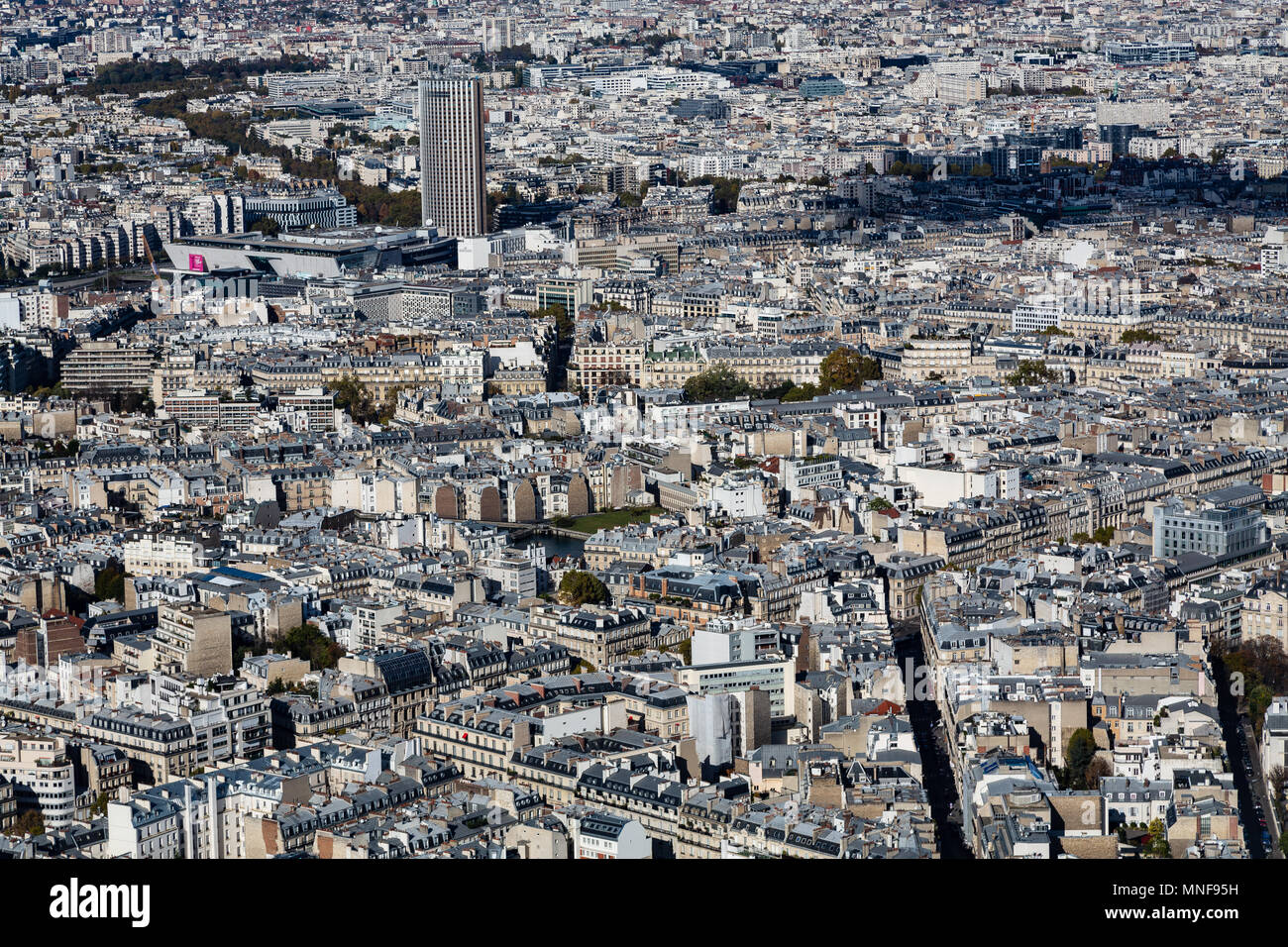 Paris from Tour Eiffel - Stock Image