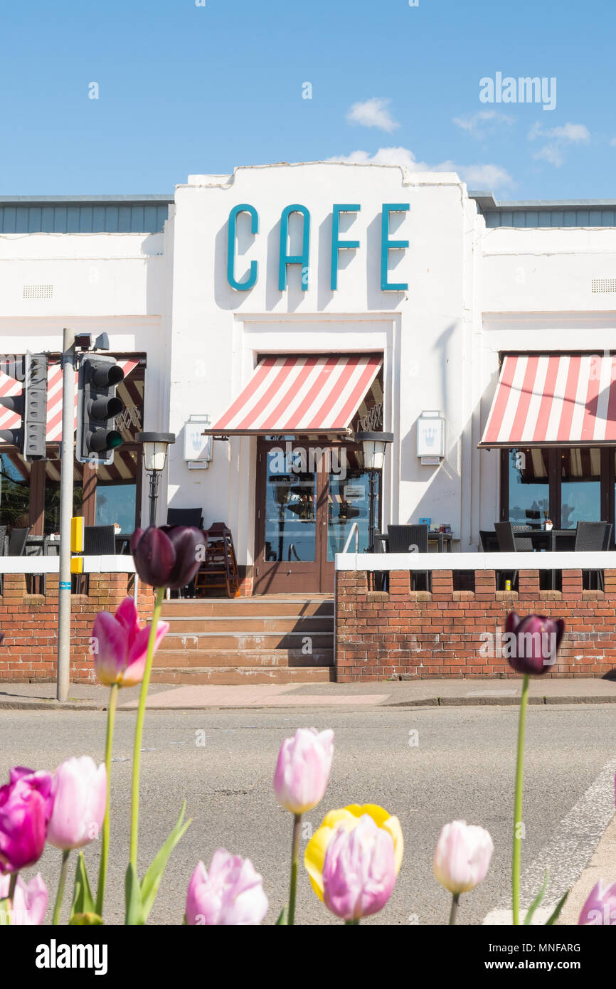 Nardinis Cafe and Ice Cream Parlour, Largs, Scotland, UK - Stock Image