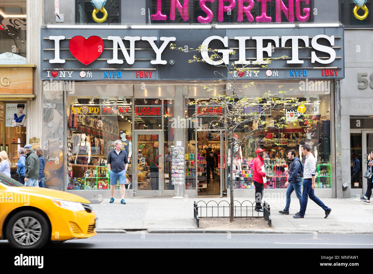 I Love New York Gifts gift shop, Fifth Avenue, New York city, USA - Stock Image