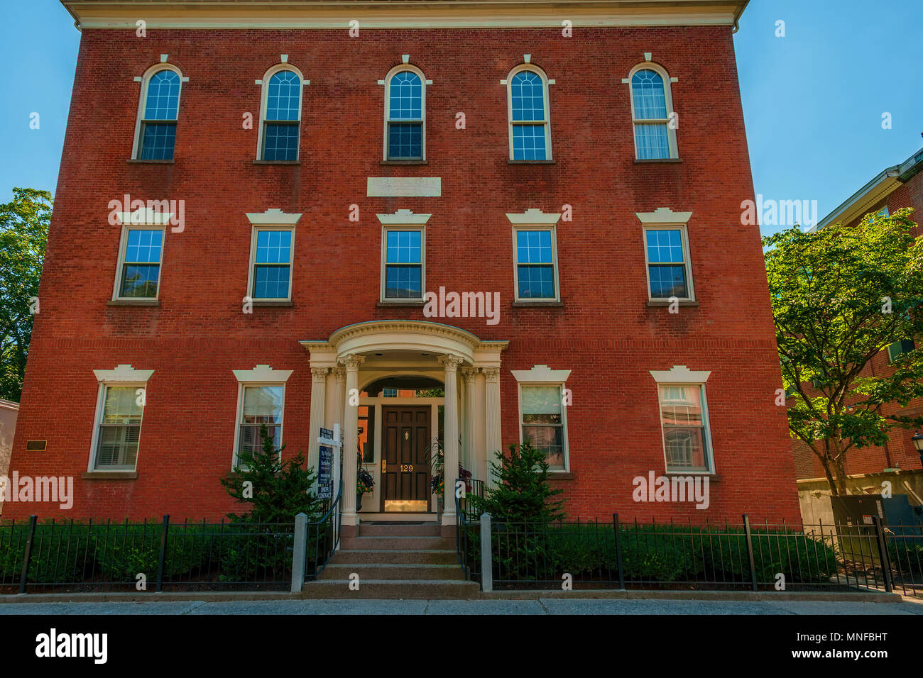 Salem, Massachusetts,USA - September 14, 2016: The Gideon Tucker House, also known as the Tucker-Rice house was built in 1808-1809 and was significant - Stock Image