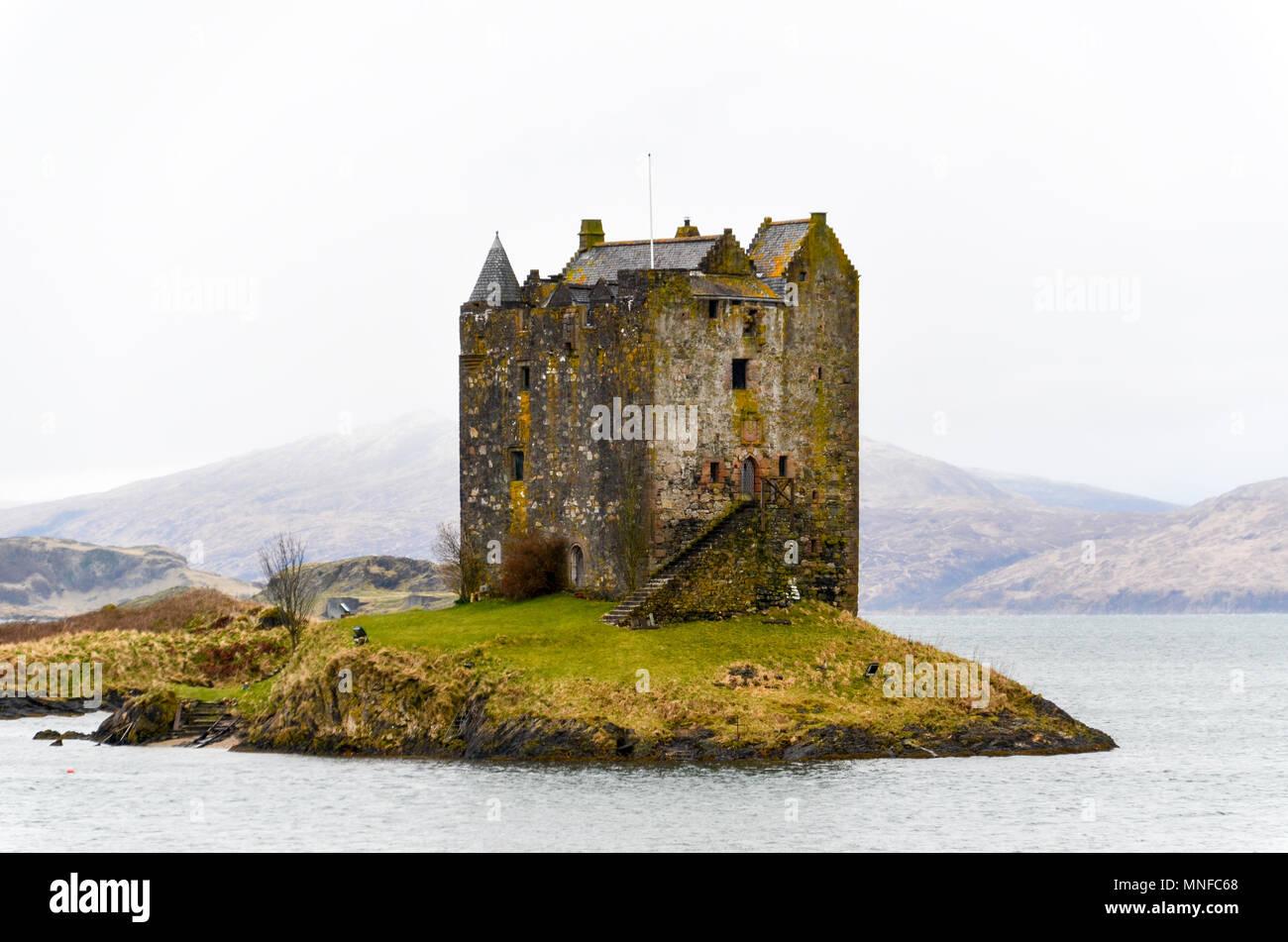 Castle Stalker, Scotland - Stock Image