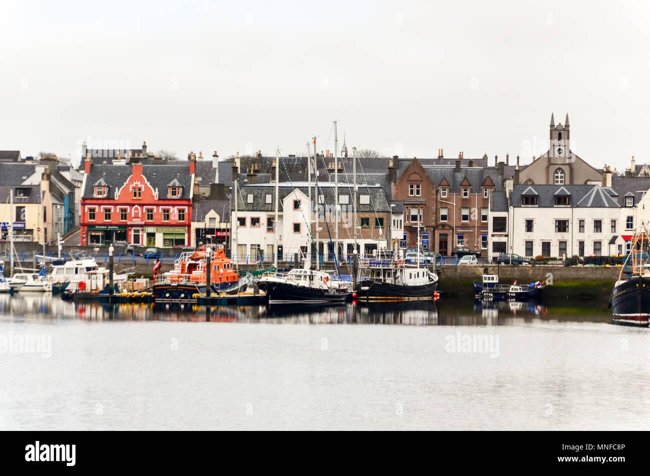 Stornoway waterfront, Lewis and Harris Scotland - Stock Image