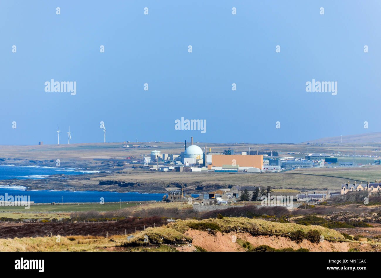 Dounreay nuclear power plant and facilities, in decommission phase, near Thurso, Scotland Stock Photo