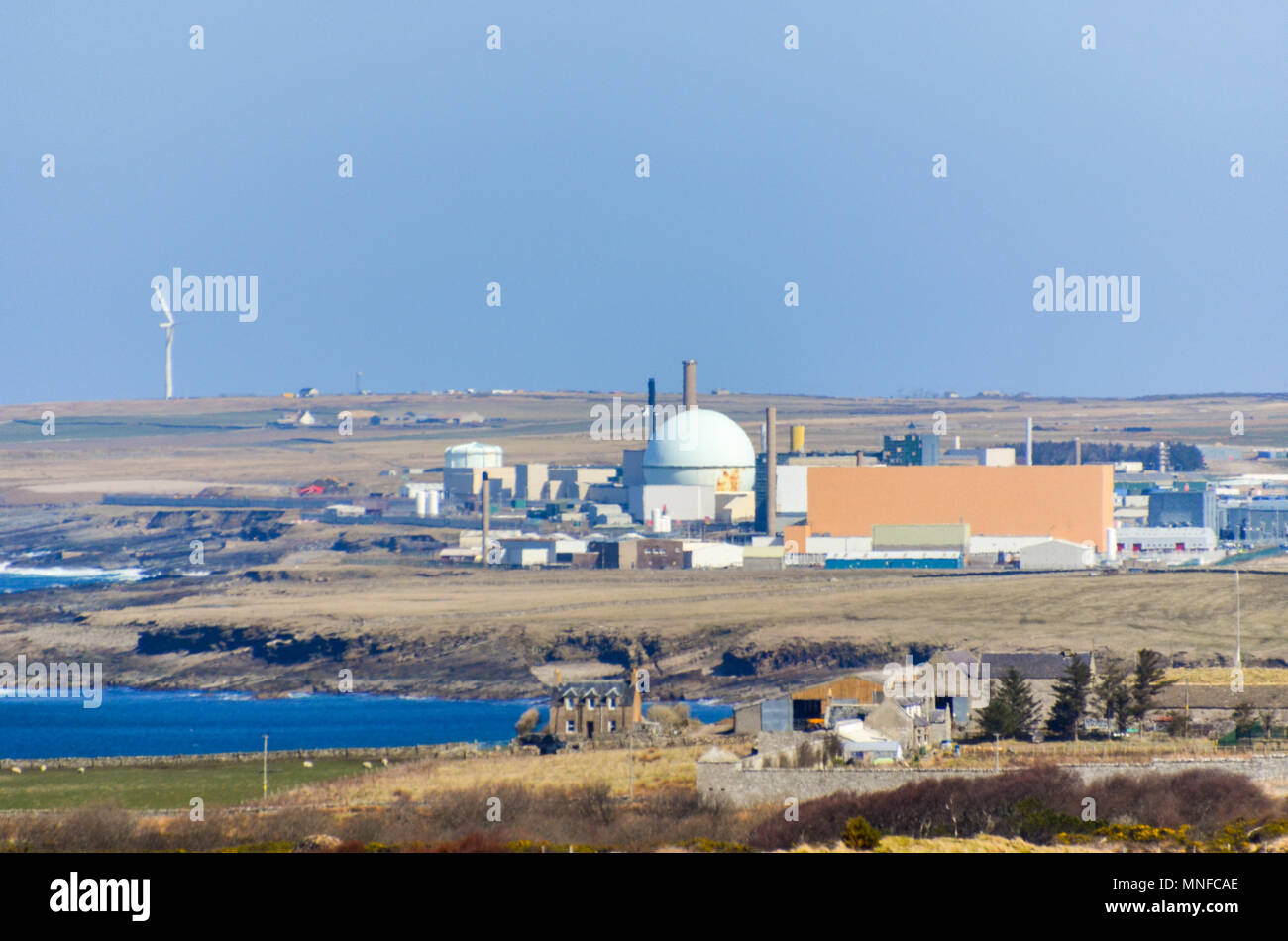 Dounreay nuclear power plant and facilities, in decommission phase, near Thurso, Scotland - Stock Image