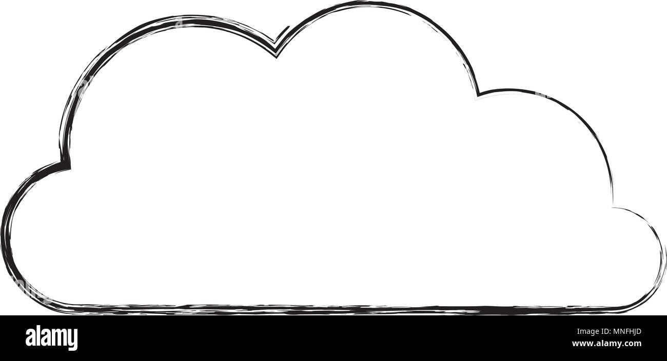 cloud weather isolated icon - Stock Image