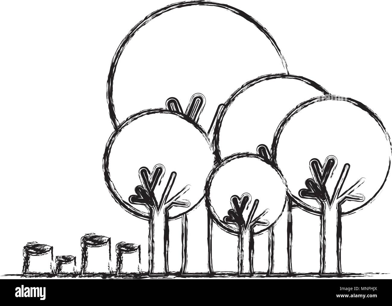 deforestation stock vector images alamy