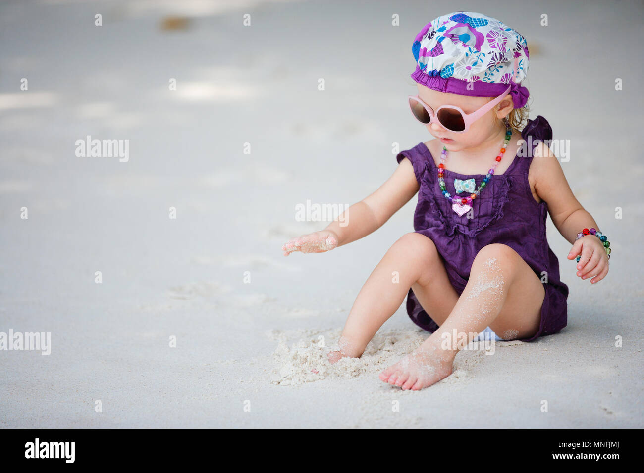 Portrait of adorable toddler girl fancy dressed - Stock Image