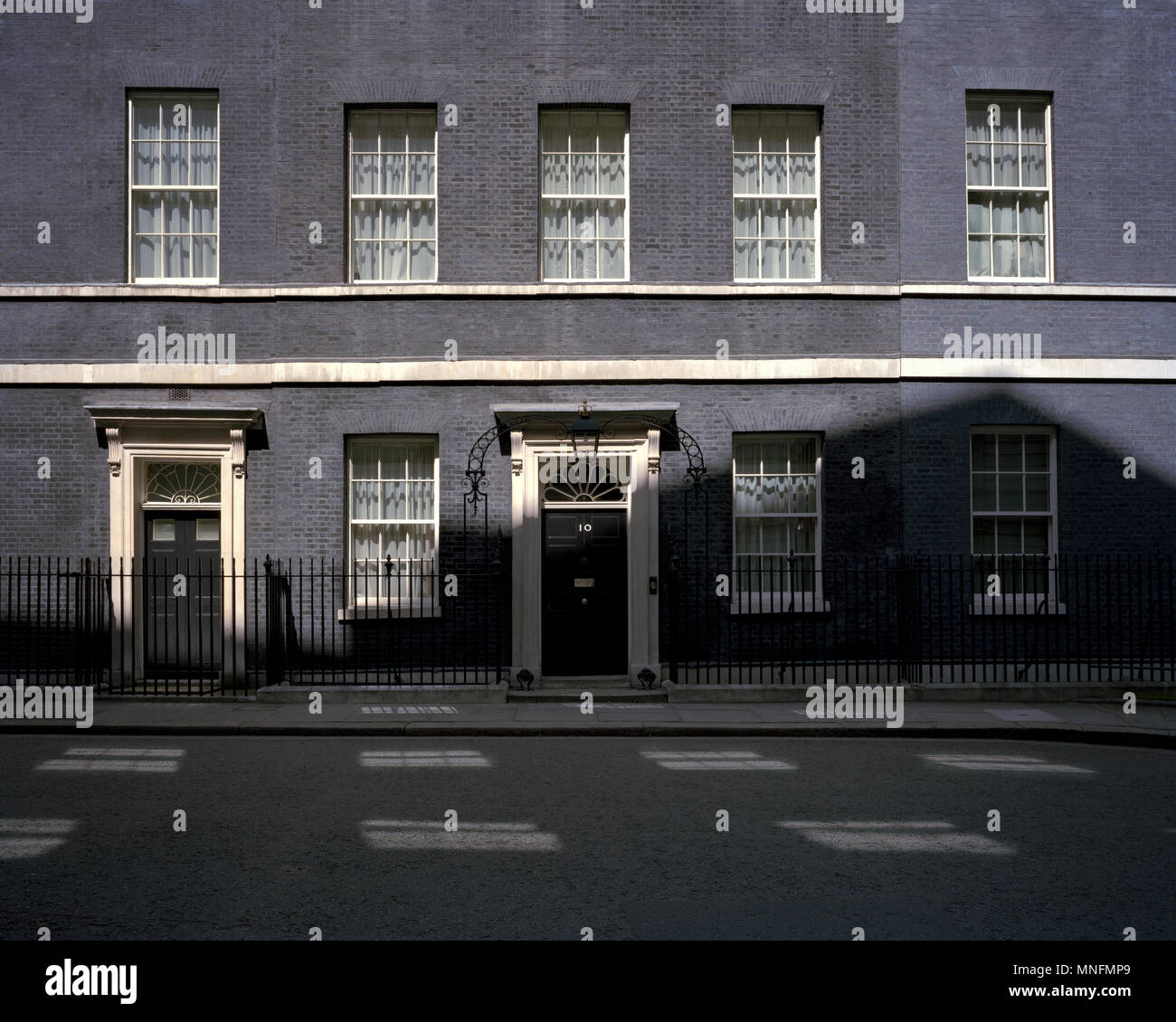 by John Angerson. The Door of 10 Downing Street, London, UK. - Stock Image