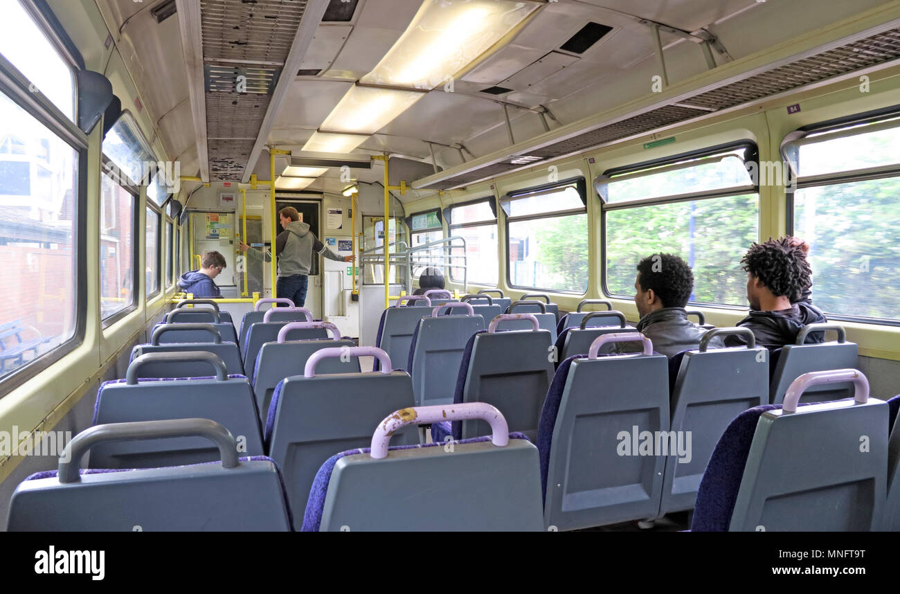 Northern Rail Pacer old Train carriage, Birchwood,Warrington, Cheshire, England, UK - Stock Image