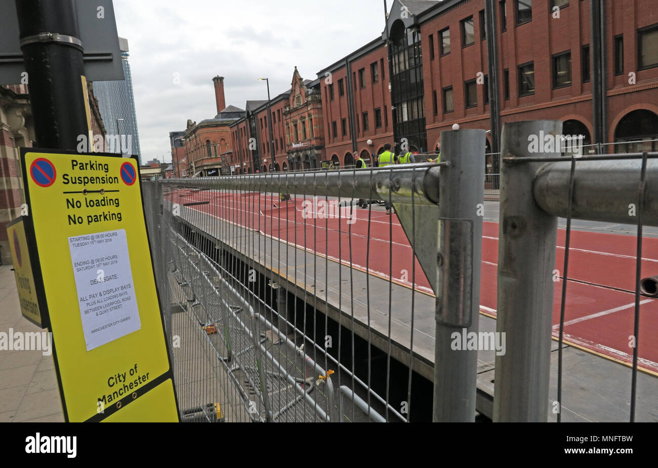Set up for the great CityGames Manchester, May 2018, Lancashire, England, UK - Stock Image