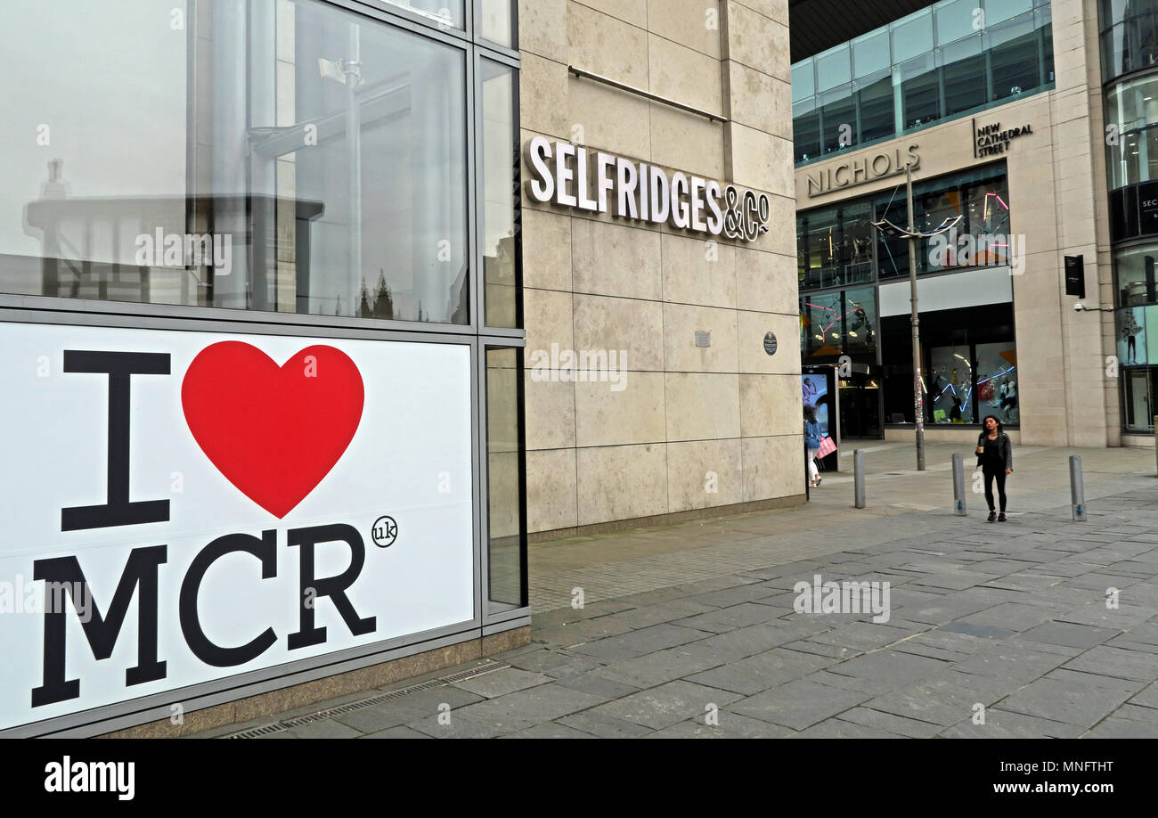 I love MCR Manchester Arena Bombing 22/05/2017 - Stock Image