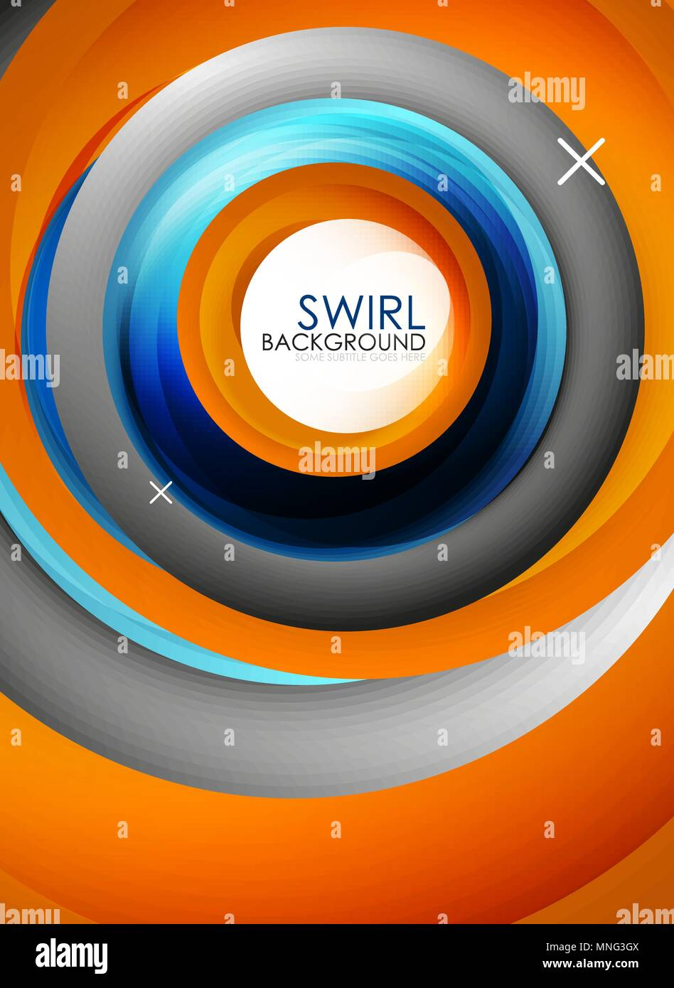 Spiral swirl flowing lines 3d vector abstract background. Spiral swirl flowing lines 3d vector abstract background. Vector illustration - Stock Image