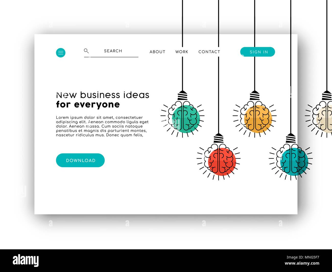 Web landing page for online app or business ideas  Internet