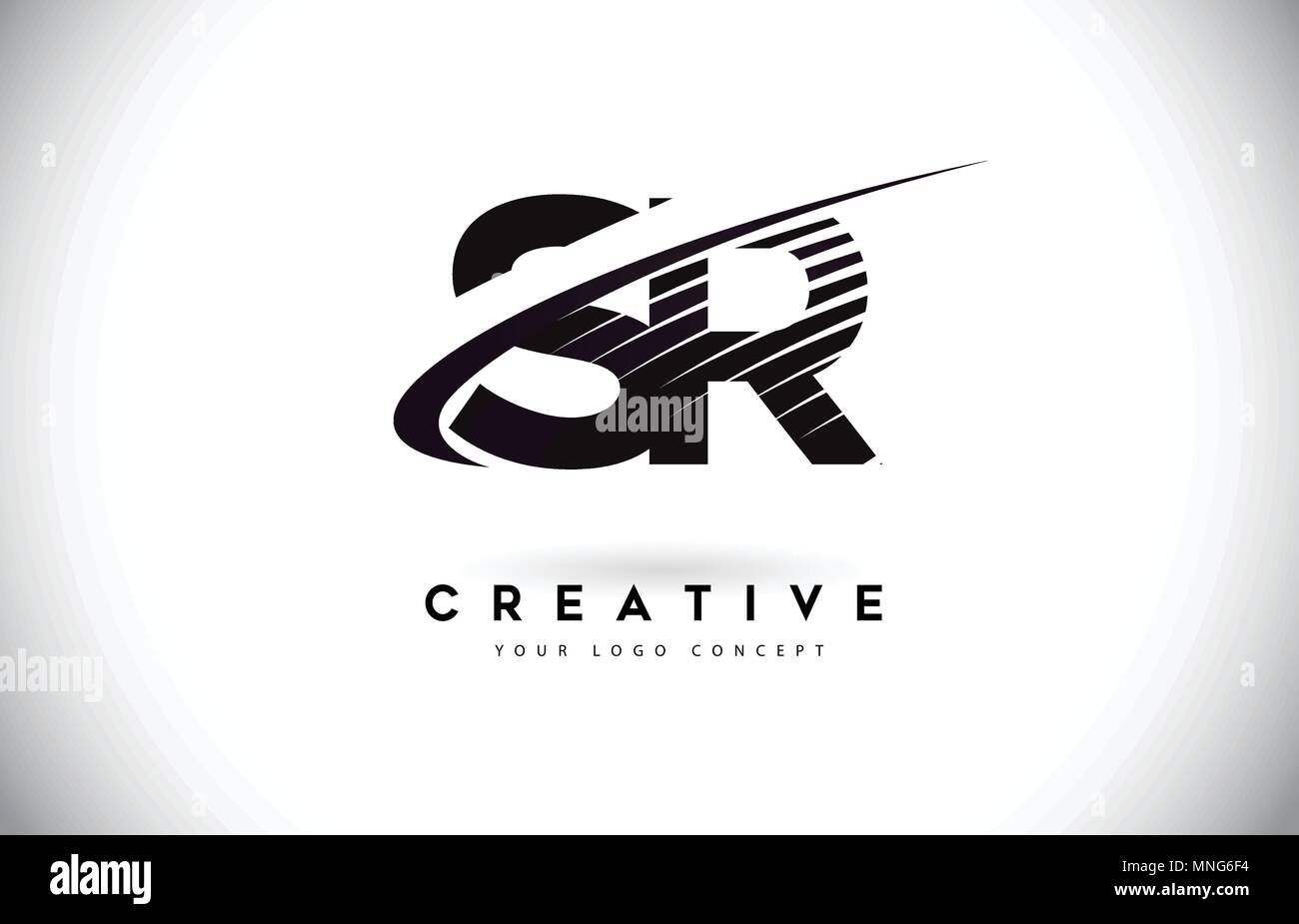 SR S R Letter Logo Design with